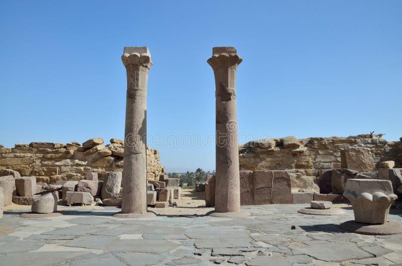 Rovine della necropoli egiziana antica Saggara fotografia stock libera da diritti