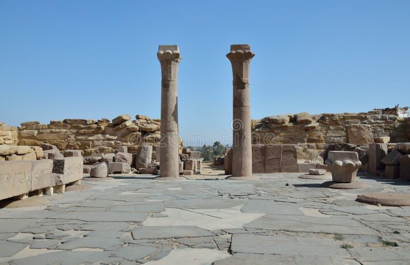 Rovine della necropoli egiziana antica Saggara fotografia stock