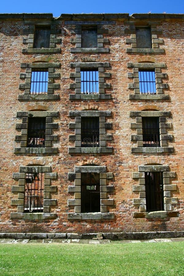 Rovine della prigione in Tasmania immagini stock