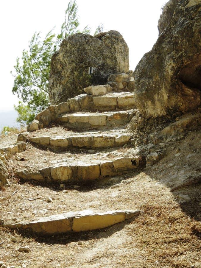 Rovine delle antiche scale immagini stock libere da diritti