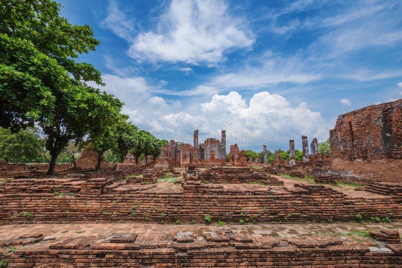 Rovine delle statue di Buddha e della pagoda di Wat Phra Si Sanphet in ayu immagini stock