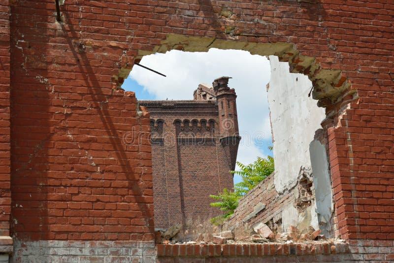 Rovine di Assan Mill, Bucarest fotografia stock