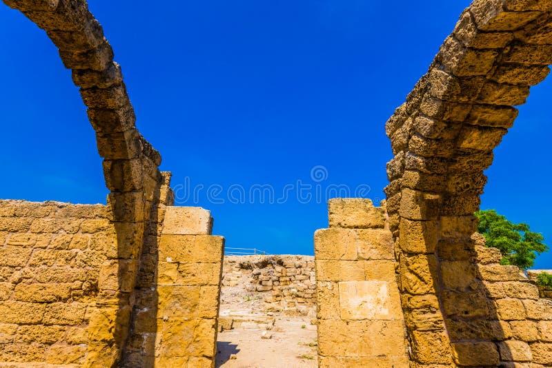 Rovine di Cesarea antica fotografia stock