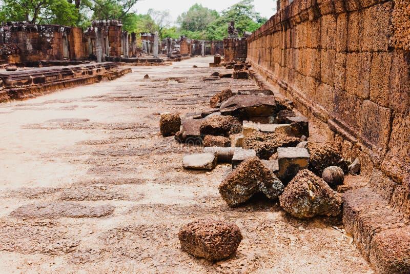 Rovine di civilizzazione khmer antica, Angkor Wat, Cambogia fotografia stock