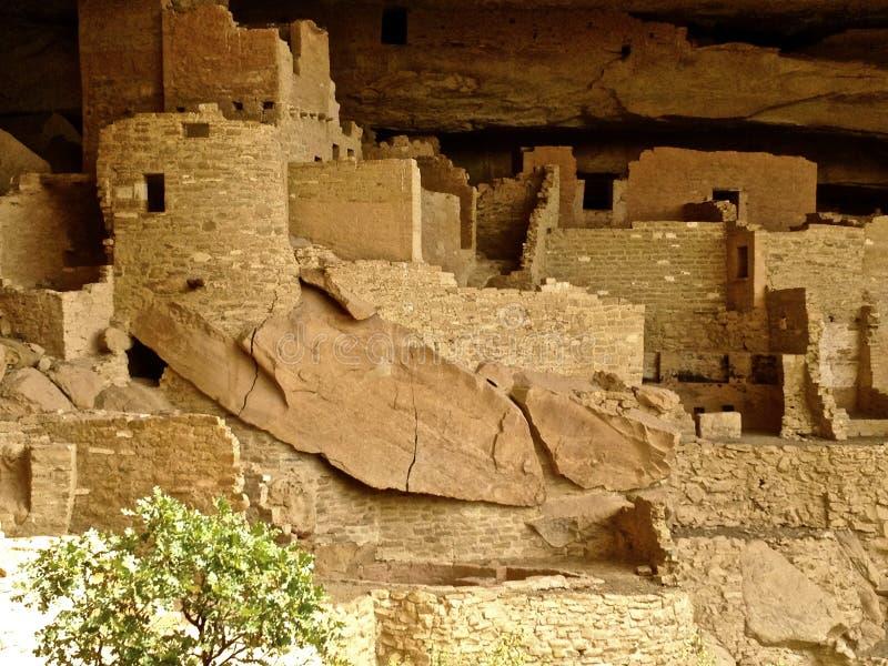 Rovine di Cliff Palace a Mesa Verde fotografie stock libere da diritti