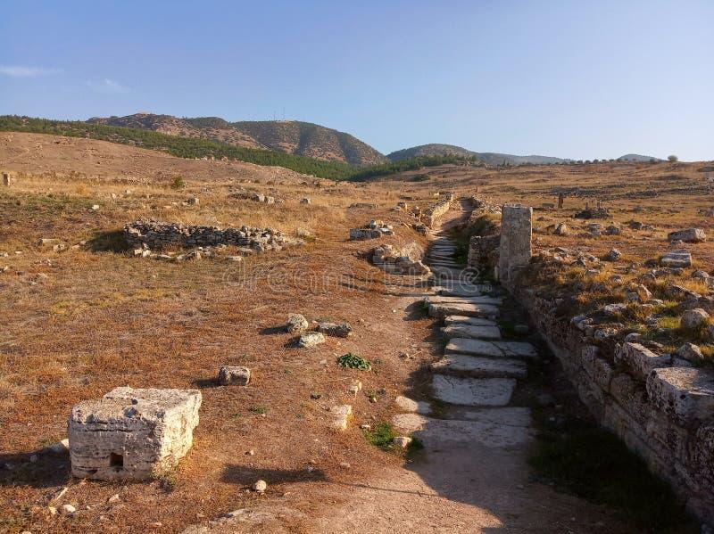 Rovine di Hierapolis, Turchia fotografia stock