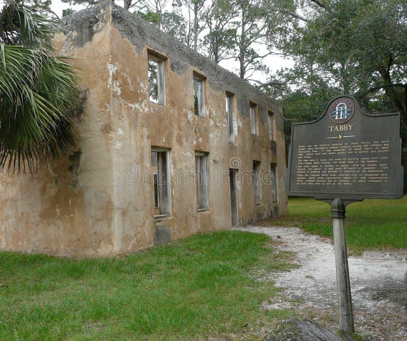 Rovine di Horton House Historic Site Tabby fotografia stock