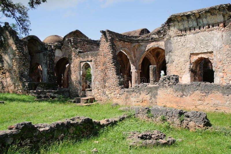 Rovine di Kilwa Kisiwani in Tanzania fotografie stock