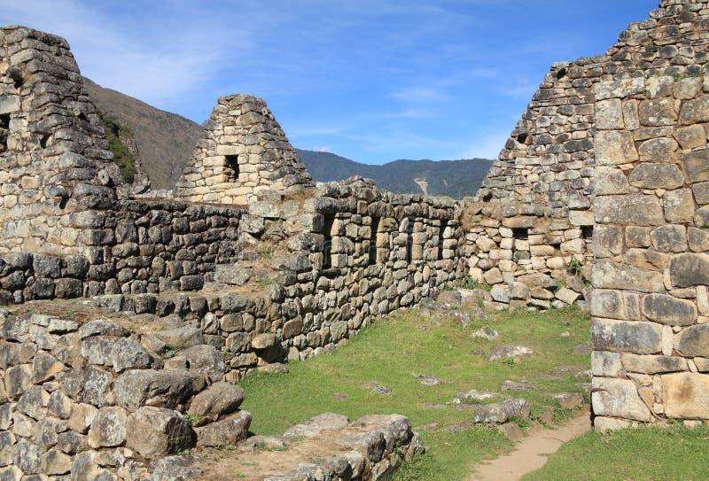 Rovine di Machu Picchu fotografia stock