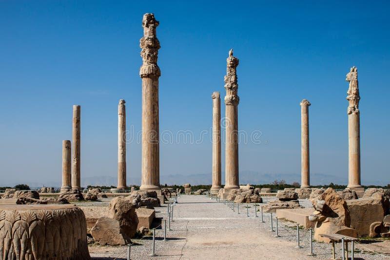 Rovine di Persepolis antico fotografia stock libera da diritti