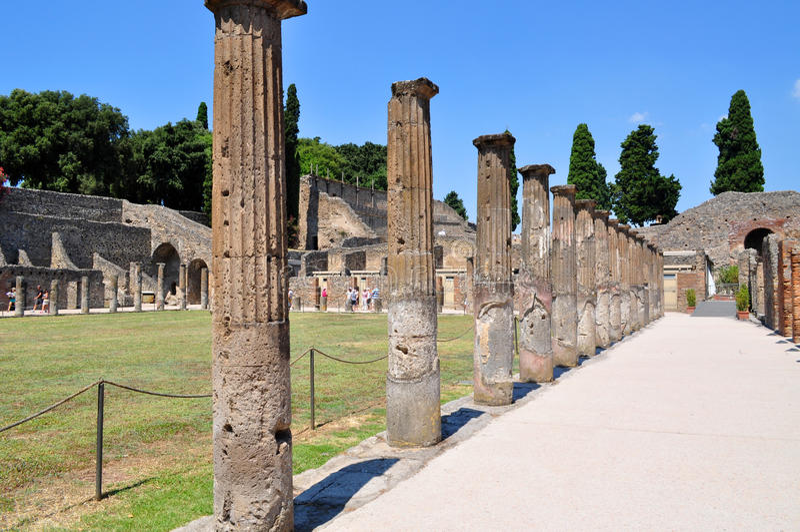 Rovine di Pompei, Italia immagini stock libere da diritti