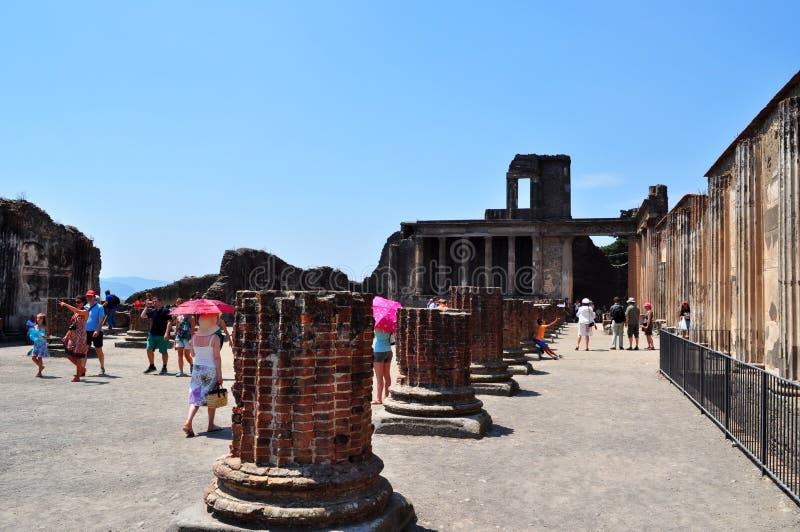 Rovine di Pompei, Italia immagini stock