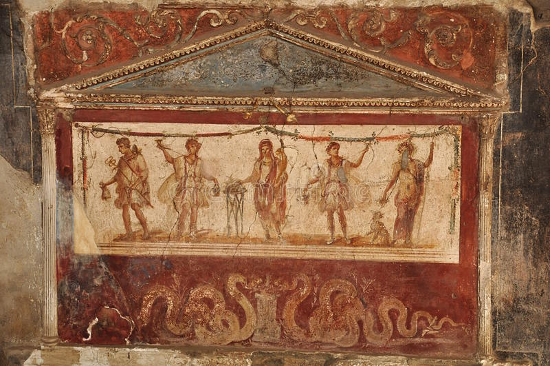 Rovine di Pompeii fotografia stock