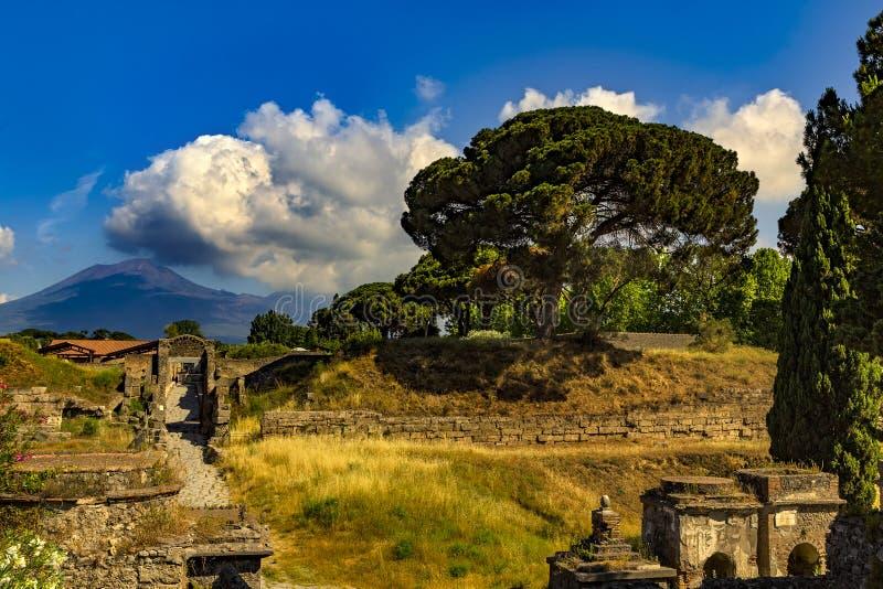 Rovine di Pompeii, Italia fotografie stock libere da diritti