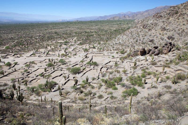 Rovine di Quilmes nelle valli Calchaqui, provincia di Tucuman, Argentina fotografia stock