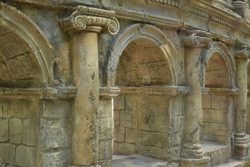 Rovine di Roma antica coliseum immagini stock