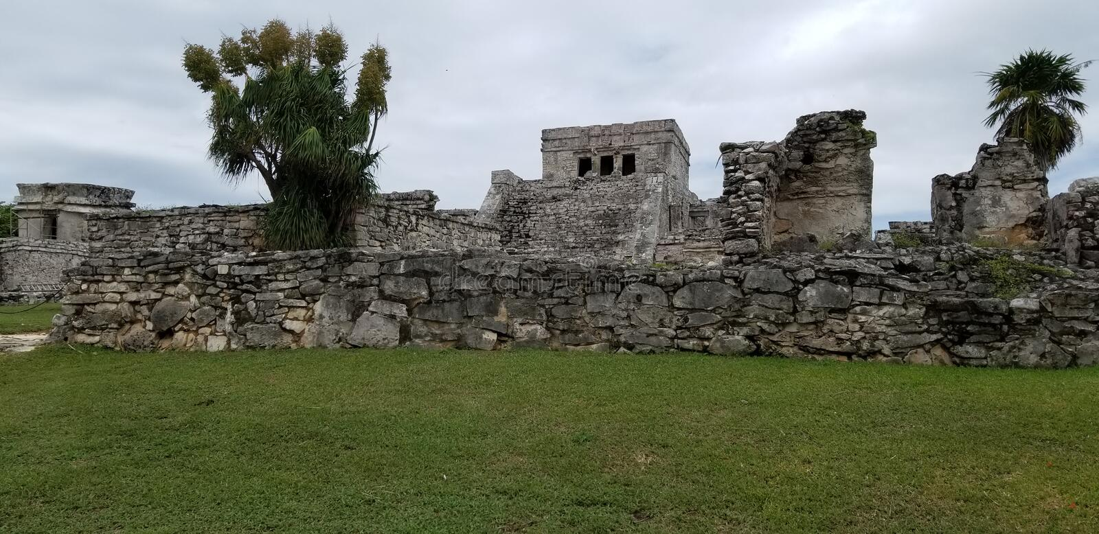 Rovine di Tulum, Cancun immagine stock