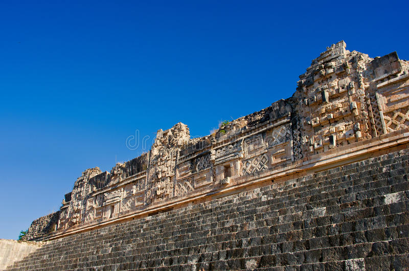 Rovine di Uxmal - città antica di maya yucatan mexico immagine stock libera da diritti