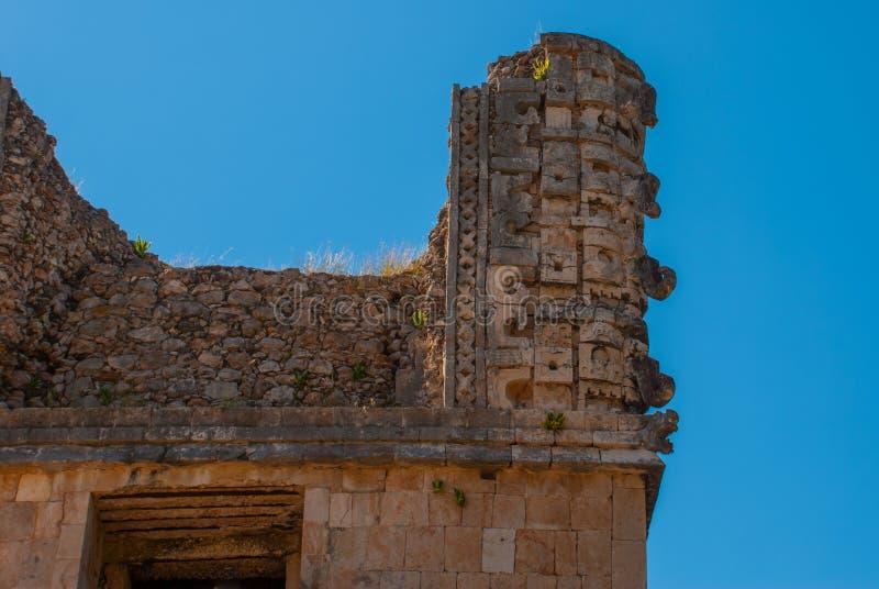 Rovine di Uxmal, una città antica di maya del periodo classico Uno dei siti archeologici più importanti della cultura di maya Yuc fotografie stock libere da diritti