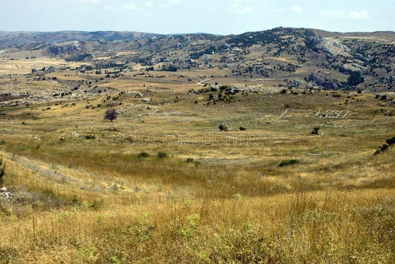 Rovine di vecchio capitale Hattusa del Hittite immagini stock