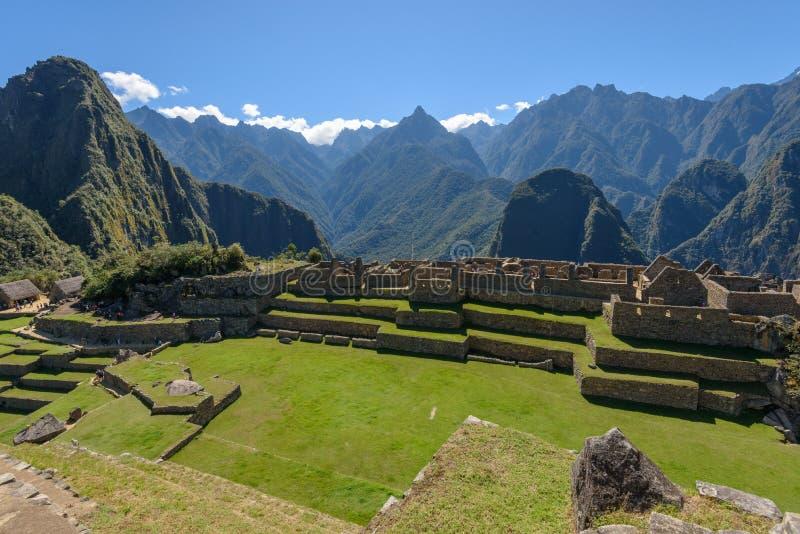 Rovine a Machu Picchu, Perù fotografie stock