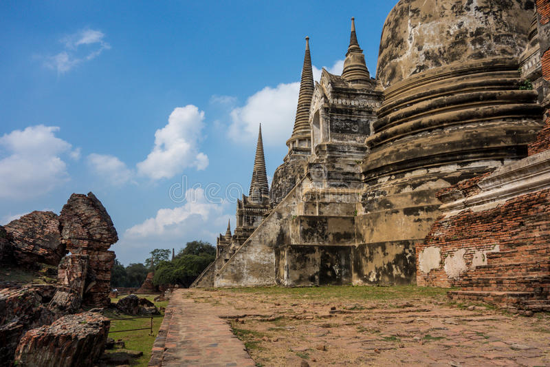 Rovine maestose del tempio fotografia stock