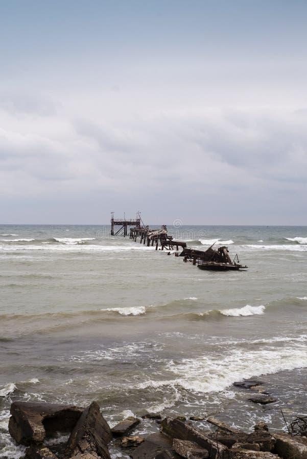 Rovine in Mar Nero fotografie stock libere da diritti