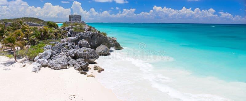 Rovine Mayan in Tulum immagine stock libera da diritti