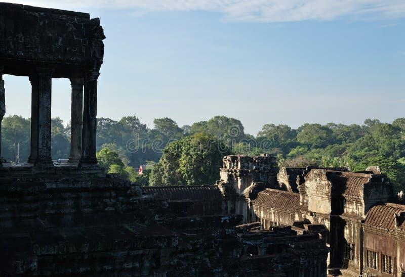 Rovine medievali del tempio in Cambogia Tempio buddista abbandonato Arte architettonica delle civilizzazioni antiche fotografia stock libera da diritti