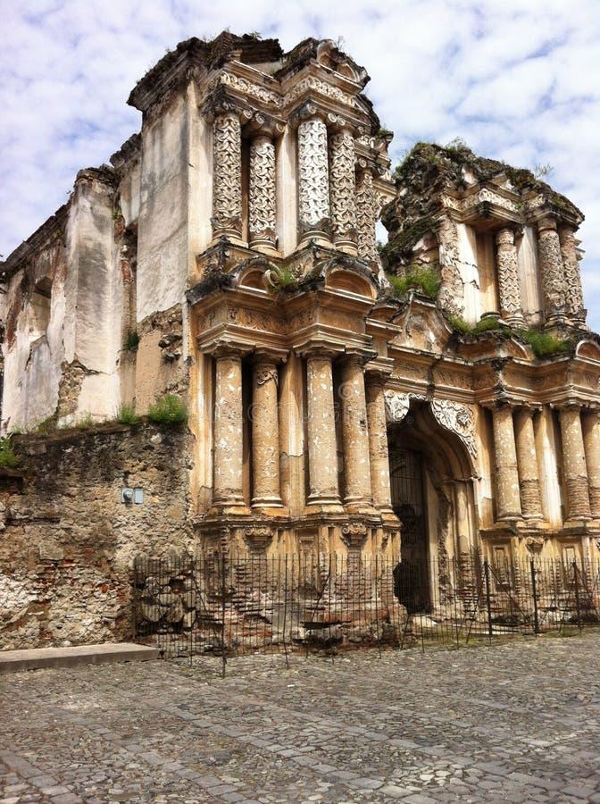 Rovine nel Guatemala fotografia stock
