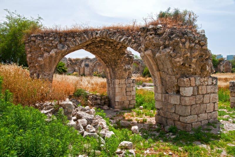 Rovine in Ramle Israele fotografia stock