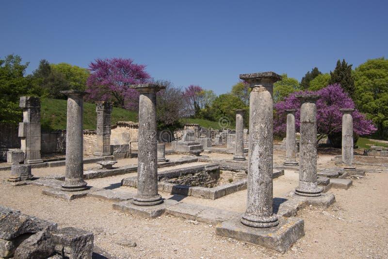 Rovine romane a Glanum immagini stock libere da diritti