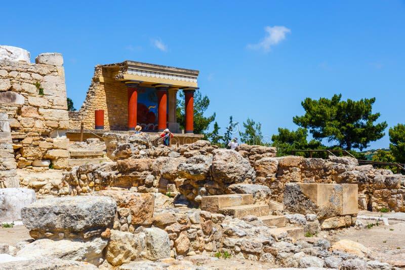 Rovine sceniche del palazzo di Minoan di Cnosso immagini stock