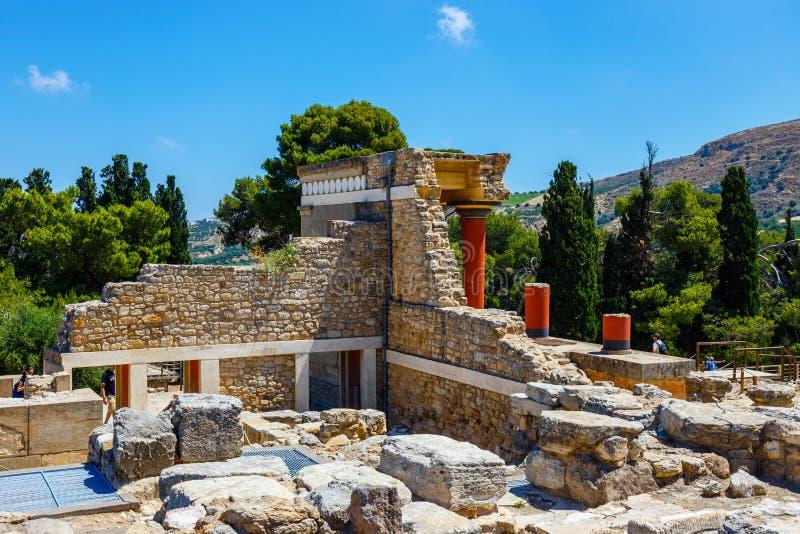Rovine sceniche del palazzo di Minoan di Cnosso immagini stock libere da diritti