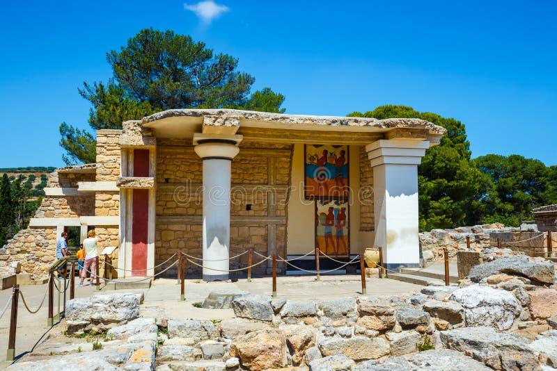 Rovine sceniche del palazzo di Minoan di Cnosso fotografie stock