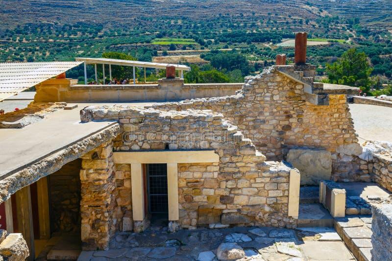 Rovine sceniche del palazzo di Minoan di Cnosso immagine stock libera da diritti