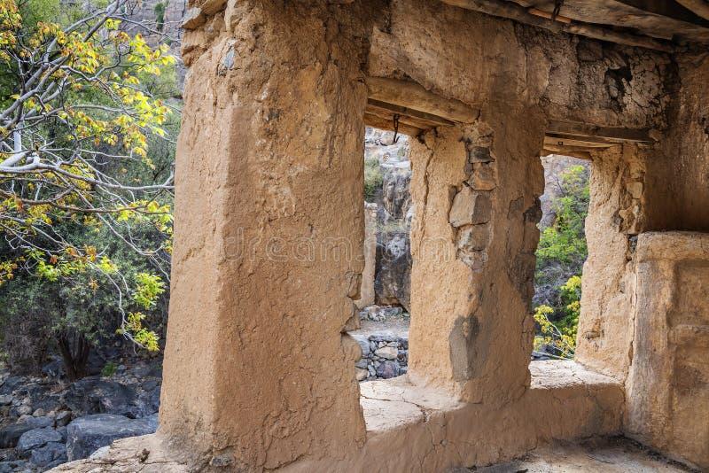 Rovine Wadi Bani Habib immagini stock libere da diritti
