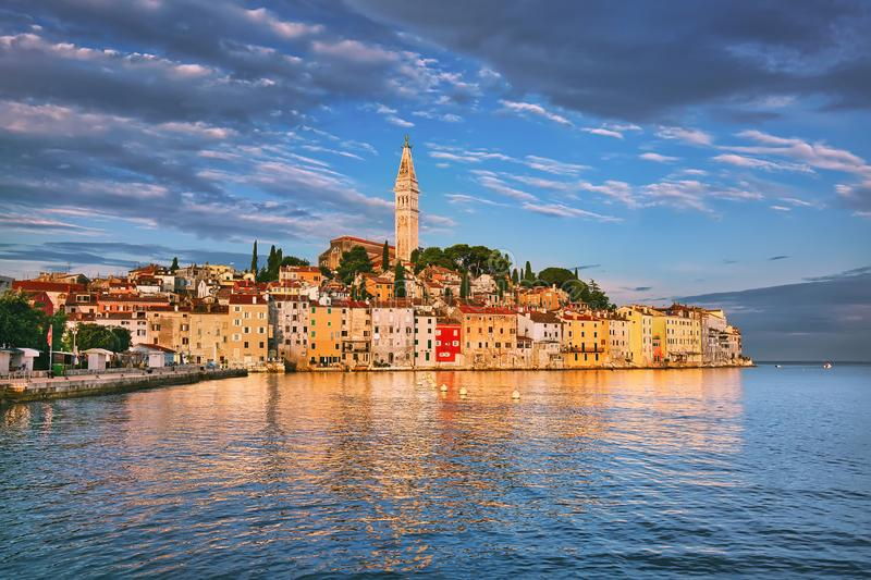 Roving old town, popular travel destination in Croatia.  stock photo