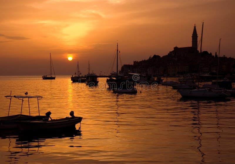 rovinj ηλιοβασίλεμα στοκ φωτογραφία