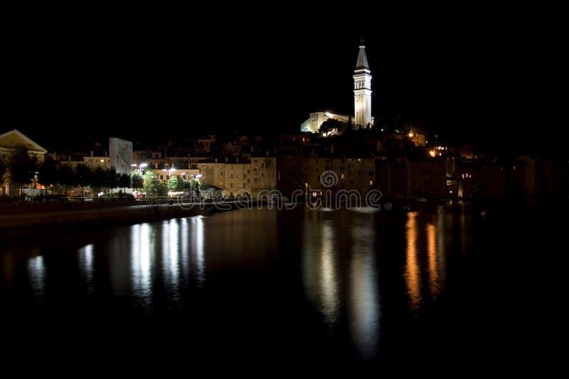 rovinj ночи Хорватии стоковые изображения rf