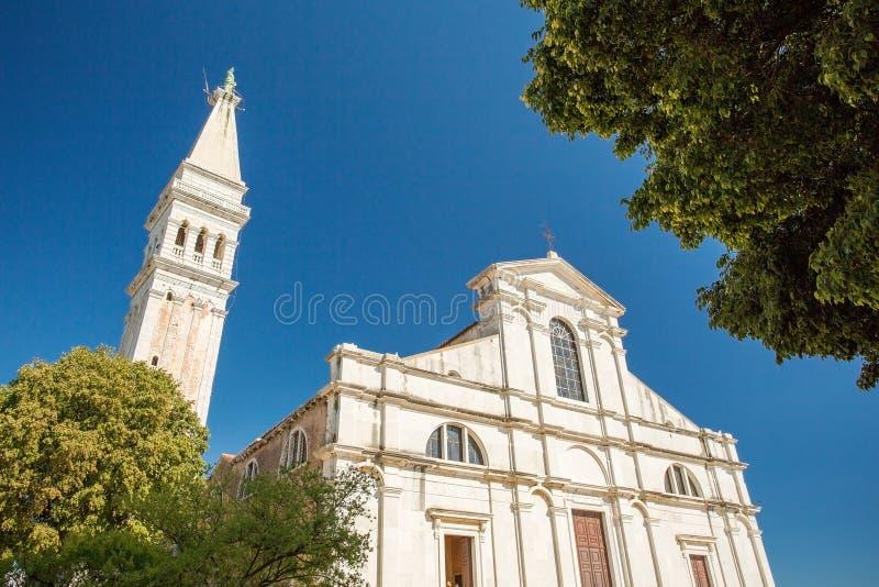 rovinj Хорватии церков стоковая фотография rf