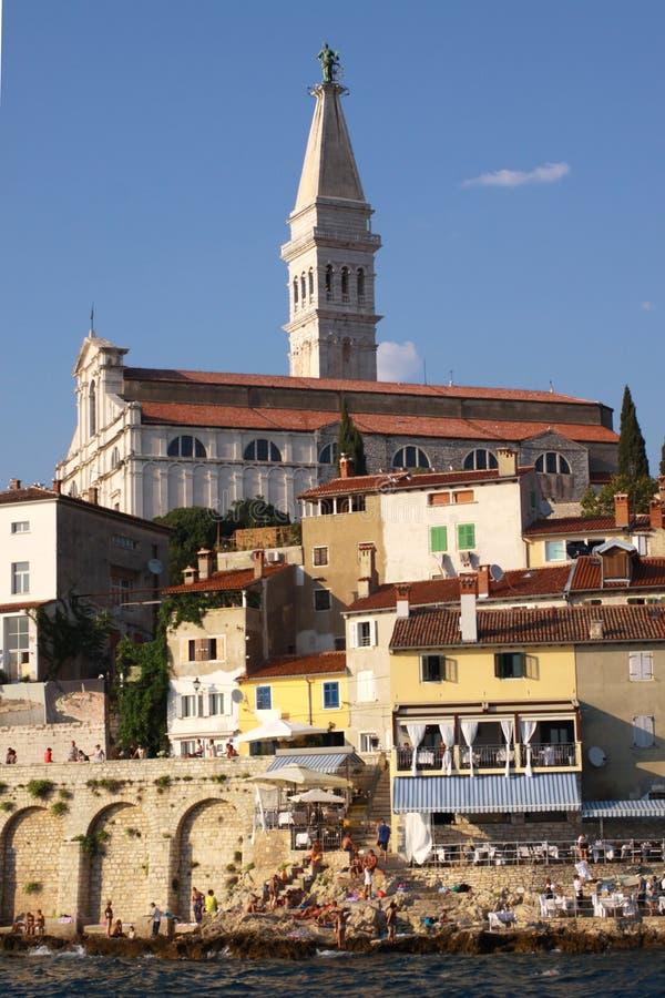 Rovinj, basílica del St Euphemia fotografía de archivo