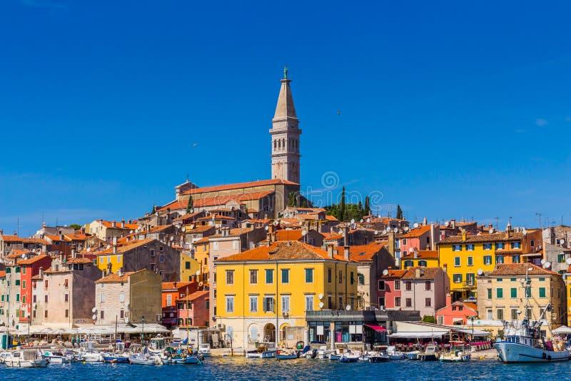 Rovinj, beautiful old town in Istria of Croatia, Europe royalty free stock photo