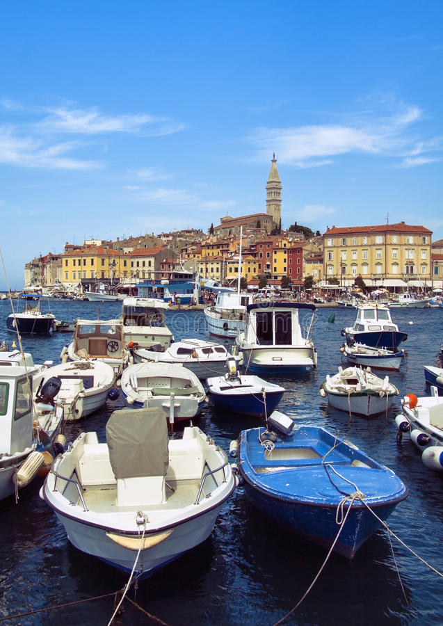 Rovinj harbour royalty free stock photography