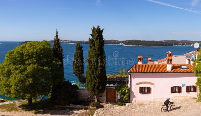 Rovinj little city in Istria, Croatia stock images