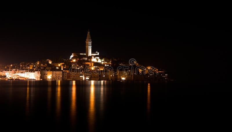 Rovinj at night royalty free stock images