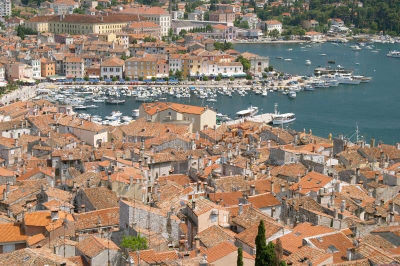 rovinj rovigno istra гавани Хорватии стоковое изображение rf