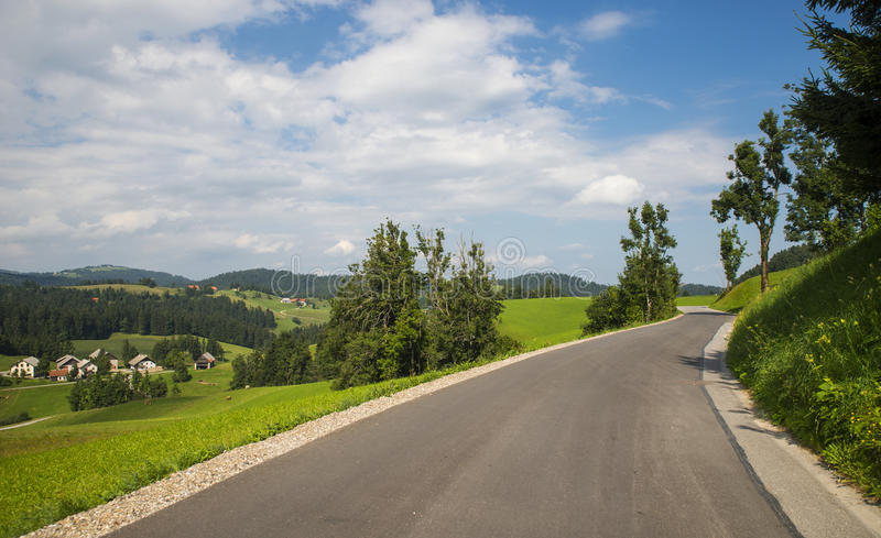 Rovtedorp, Slovenië stock foto