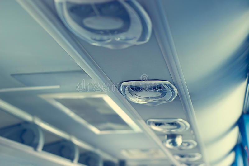 Row Of Airconditioning System In Shuttle Bus, Making Cool