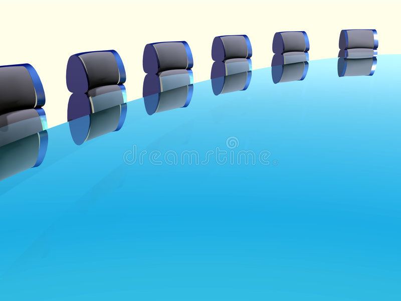 Download Row of arm-chairs stock illustration. Image of manager - 1543635